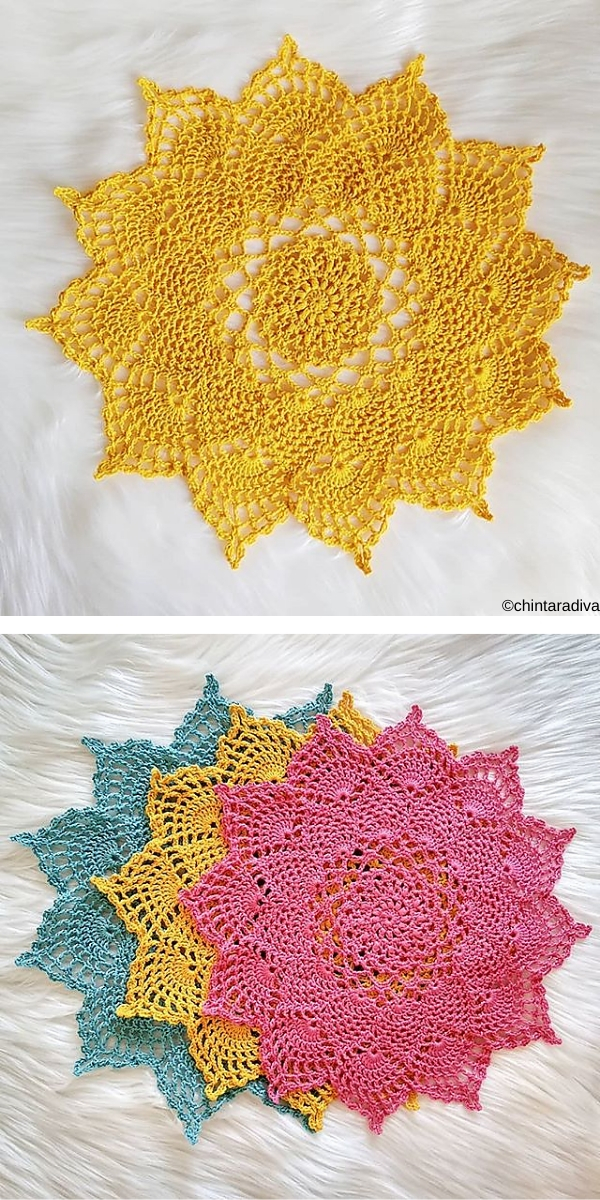 Moonpetals Doily Free Crochet Pattern