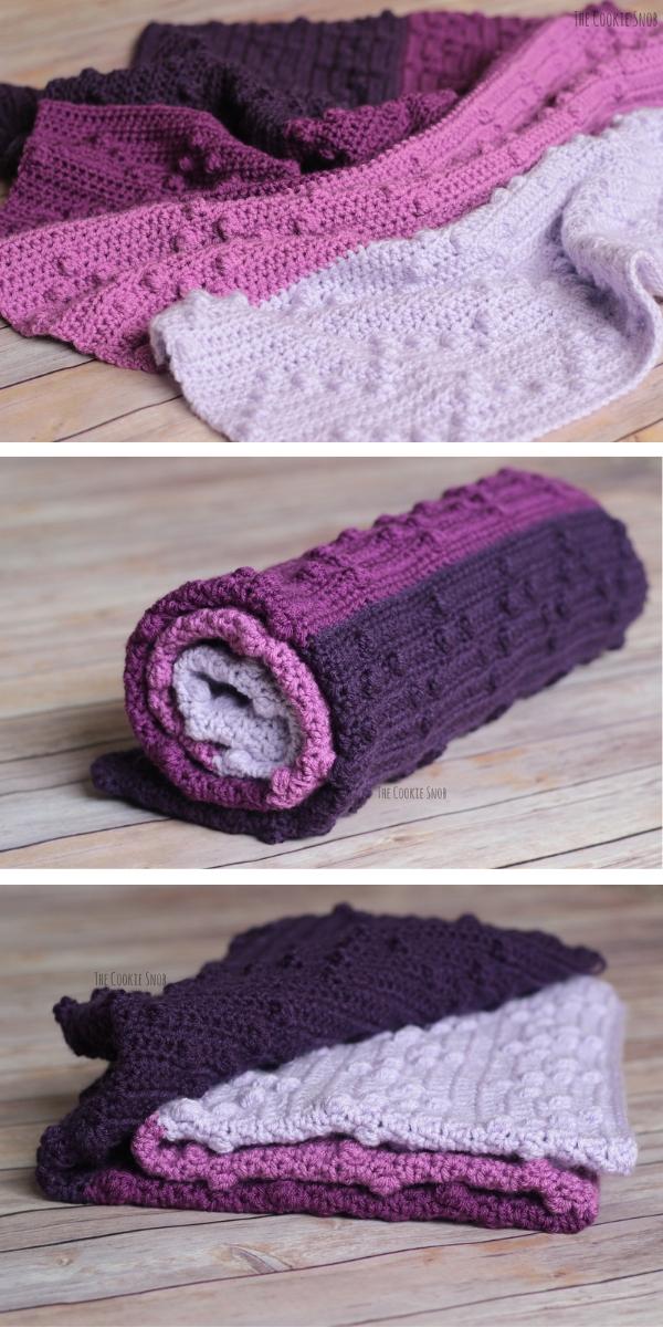 Bobble-Wobble Blanket Free Crochet Pattern