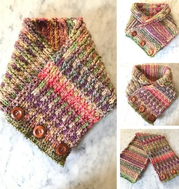 Reversible Brioche Crochet Neck Warmer
