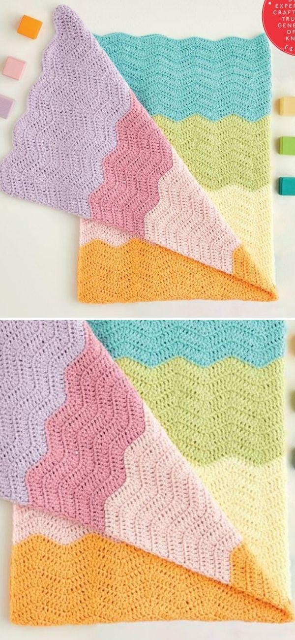 Crochet Ripple Baby Blanket 5426