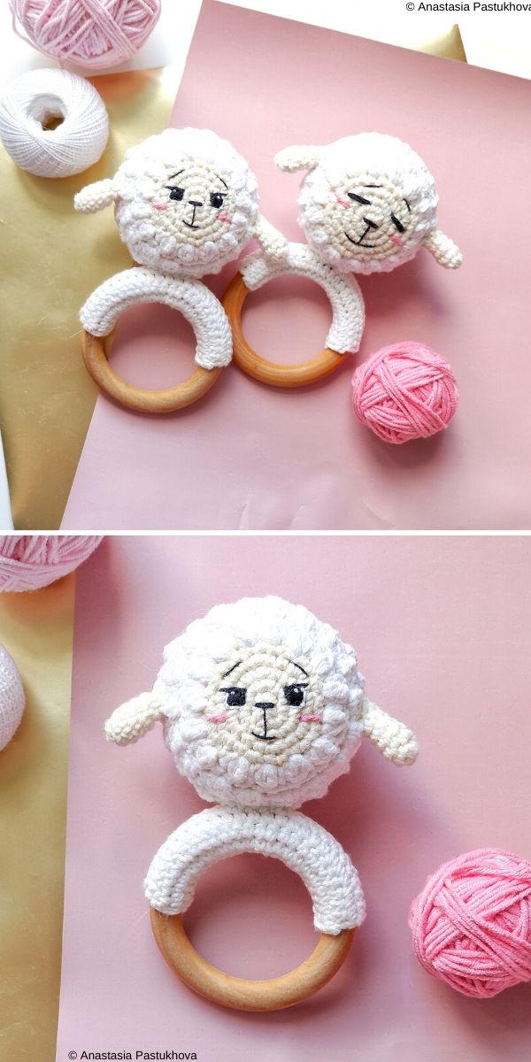 Baby rattles The Lamb ZinFree Crochet Pattern