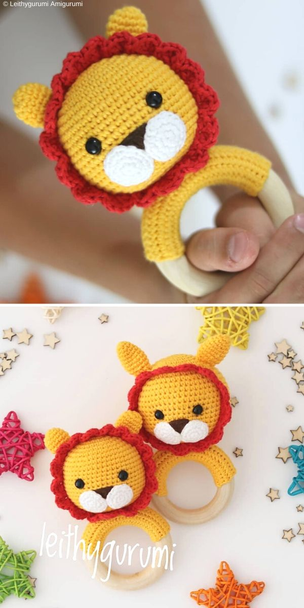 Leon Baby RattleFree Crochet Pattern