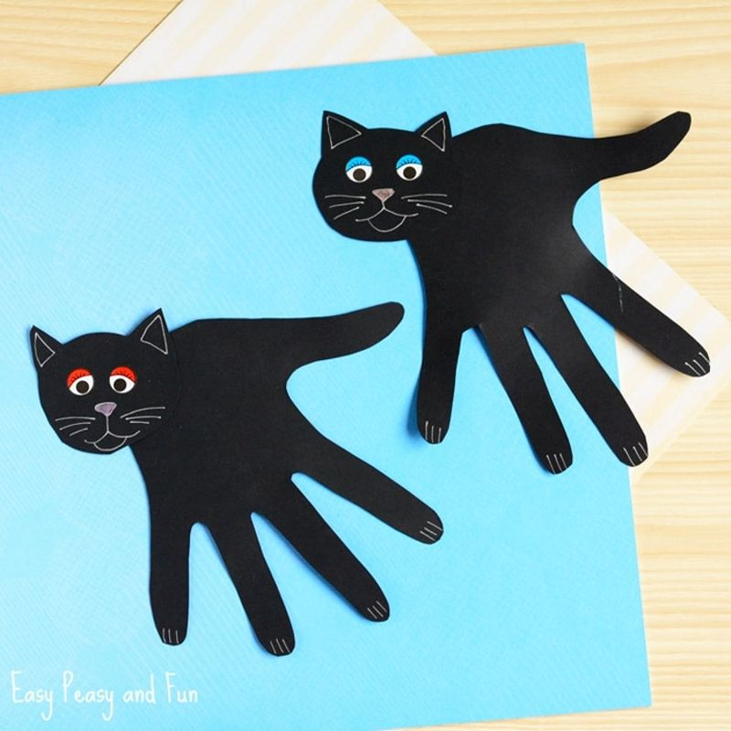 Cute Black Cat Arts and Crafts Halloween