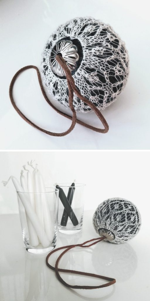 A Lace Bauble Free Knitting Pattern