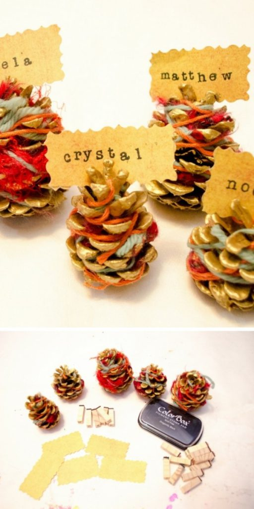 Beautiful Pinecone Place Card Holders Craft Project
