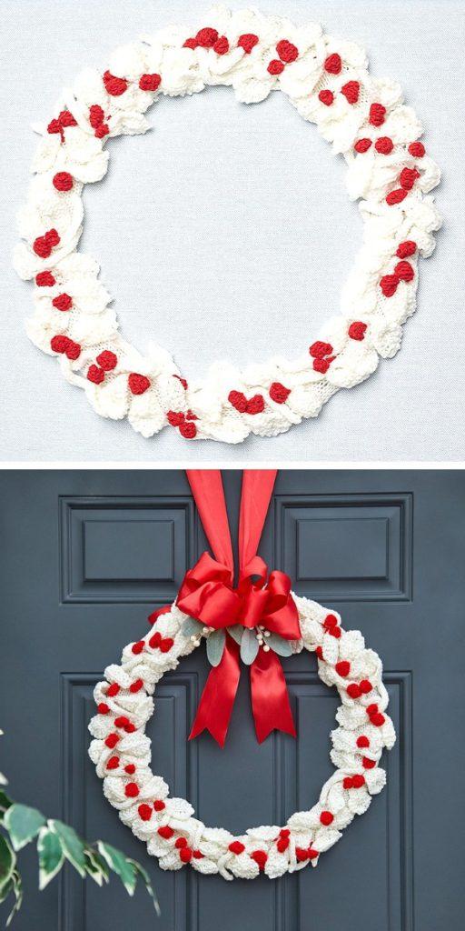 Berry Nice Wreath Free Knitting Pattern