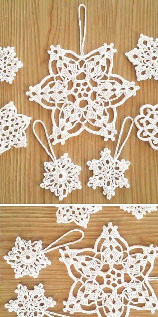Christmas Snowflakes Free Crochet Pattern