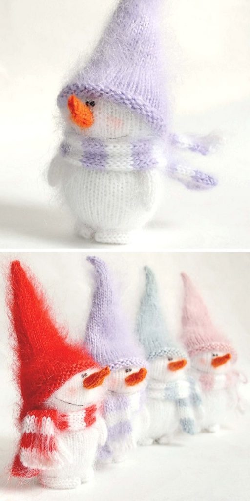 Christmas Snowman Free Knitting Pattern