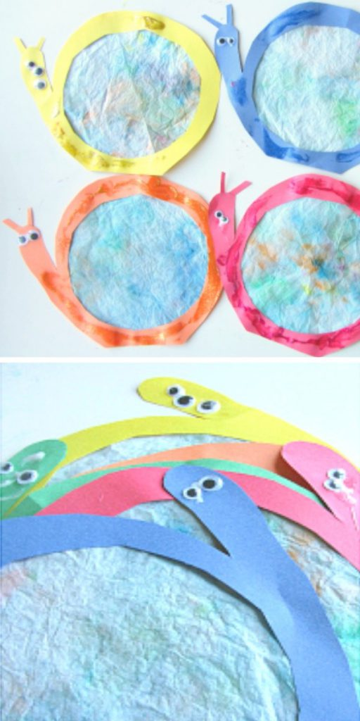 Coffee Filter Snail Suncatchers Easy Craft Projects