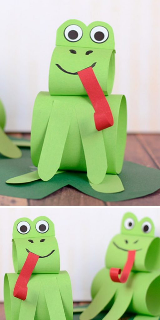 Construction Paper Frog Craft Project for Kids