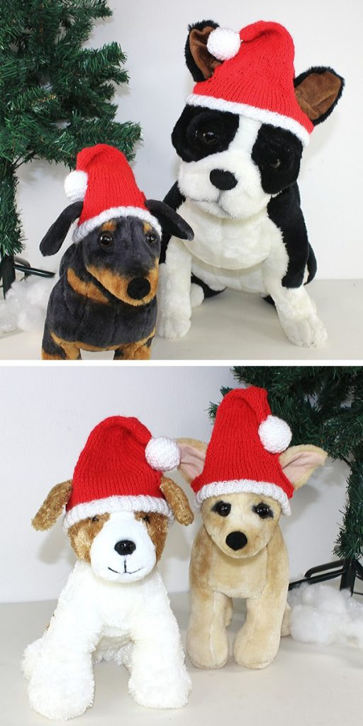 Dog Christmas Santa Hat Free Knitting Pattern