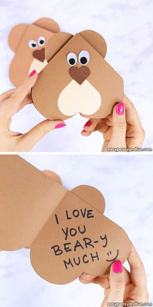 Heart Bear Easy Craft Project for Kids