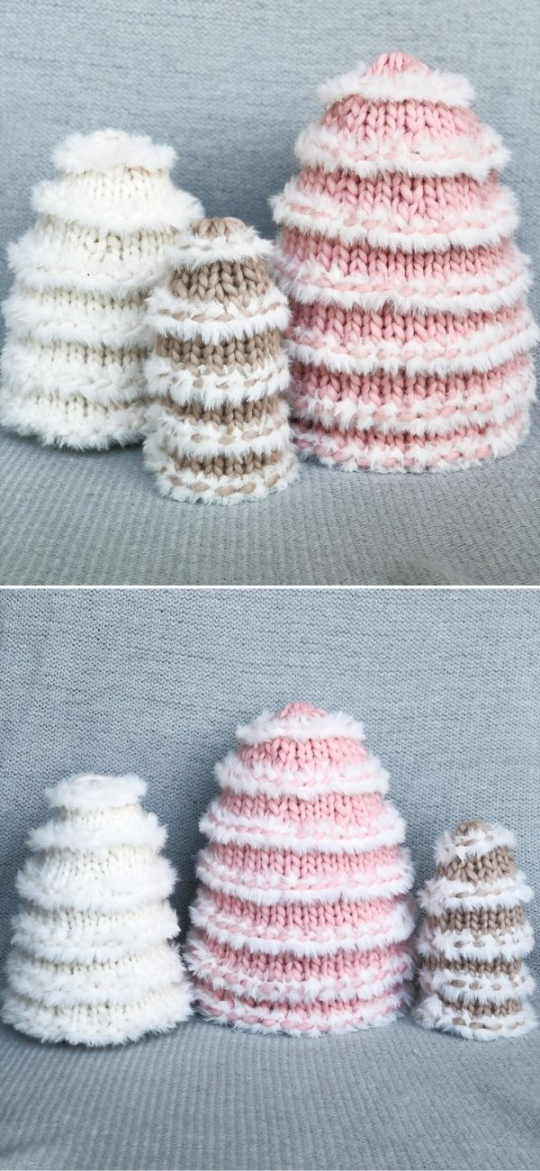 Knit Snow Trees