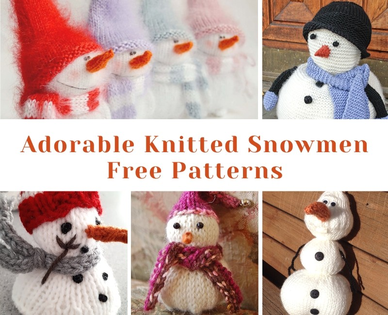 Adorable Knitted Snowmen Free Patterns