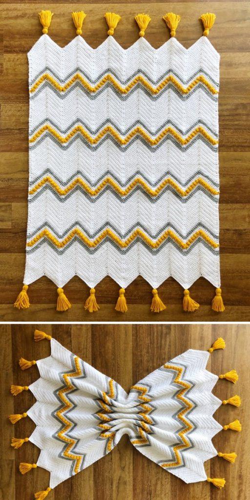 Drops of Heaven Chevron Free Crochet Pattern