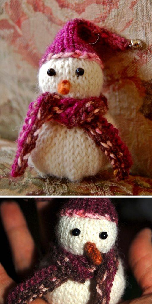 Let It Snowman Free Knitting Pattern