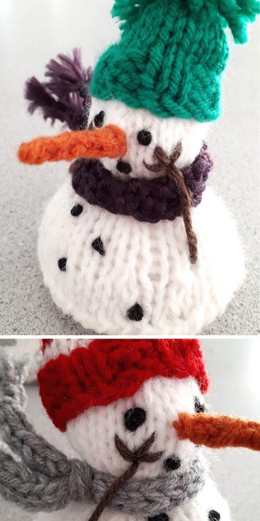 Melting Snowman Knitting Pattern
