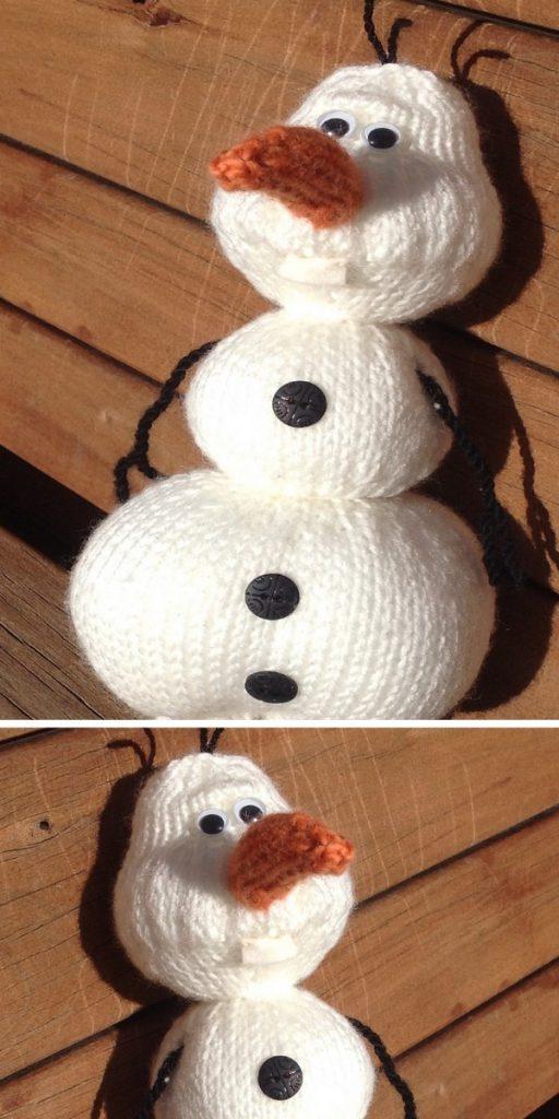 Olaf from Frozen Free Knitting Pattern