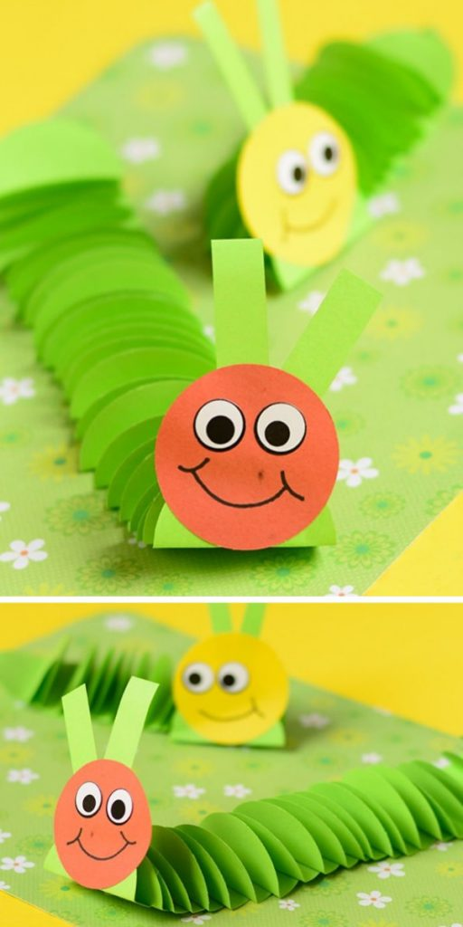 Paper Caterpillar Easy Craft Project for Kids