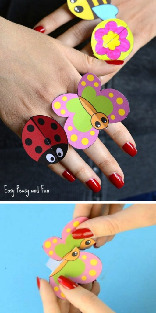 Printable Bug Paper Rings for Kids Easy Craft Projects