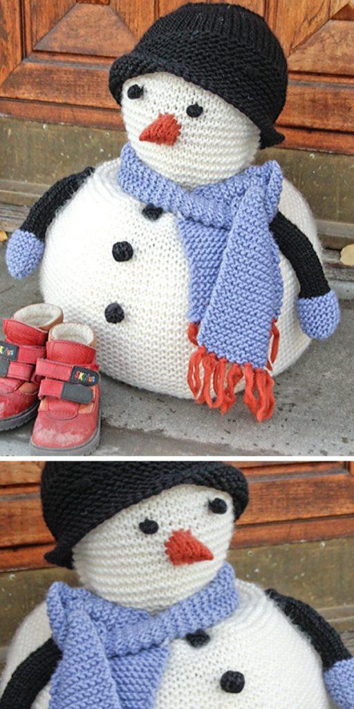 Frank Snowman Free Knitting Pattern