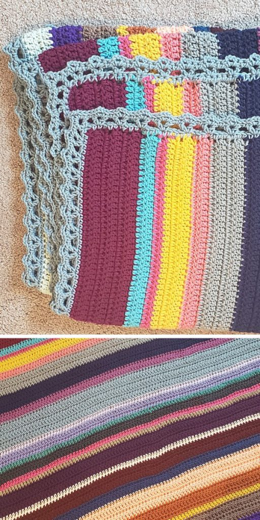 Sparkling Gemstones Crochet Afghan Free Pattern