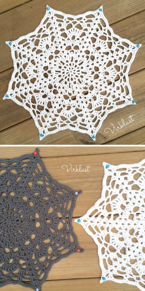 Starbeam Doily Free Crochet Pattern