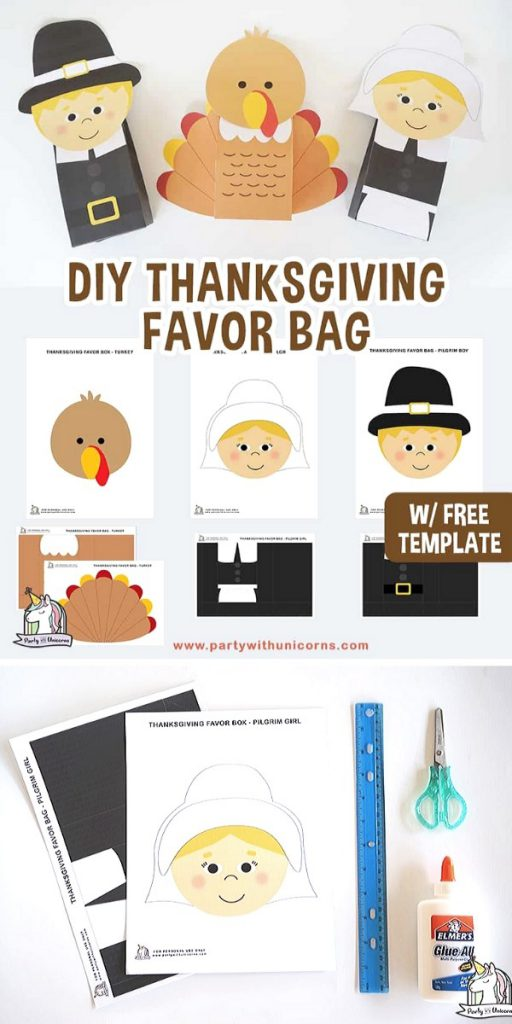 Thanksgiving Favor Bags Easy Craft Project