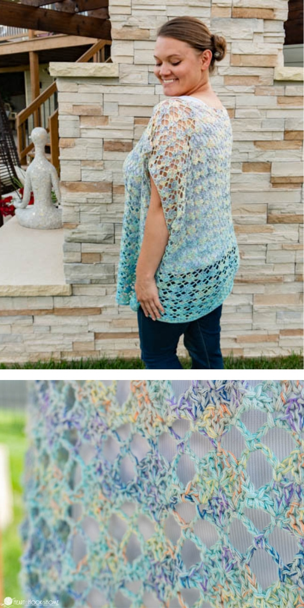 free crochet pattern: The Blue Zara Tunics