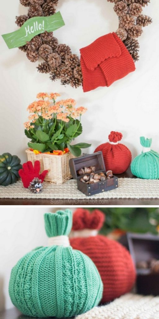 Toque Pumpkins and Glove Turkeys Craft Projects