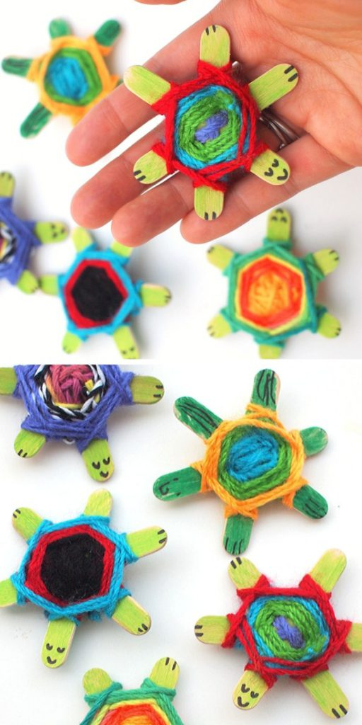 Weaving Cute Baby Turtles Craft Project