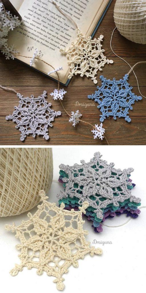 Winter Realm Snowflake Free Crochet Pattern