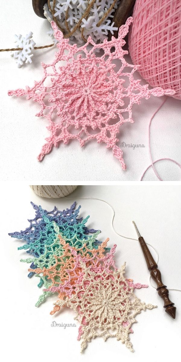 Enchanting Snowflakes Free Crochet Patterns