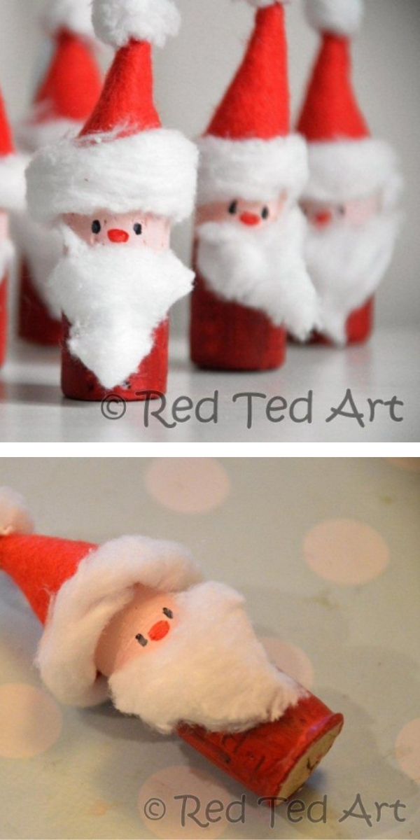 Free Patterns: Christmas Crafts for Kids Santa