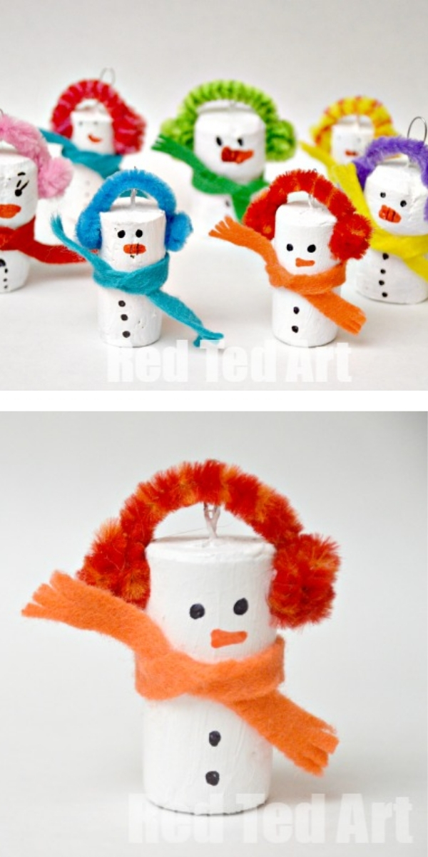 Free Patterns: Christmas Crafts for Kids Snowman