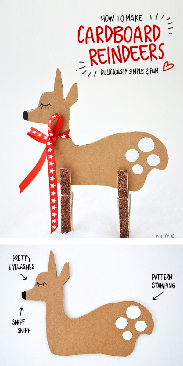 Christmas DIY Ornaments Brown Reindeer