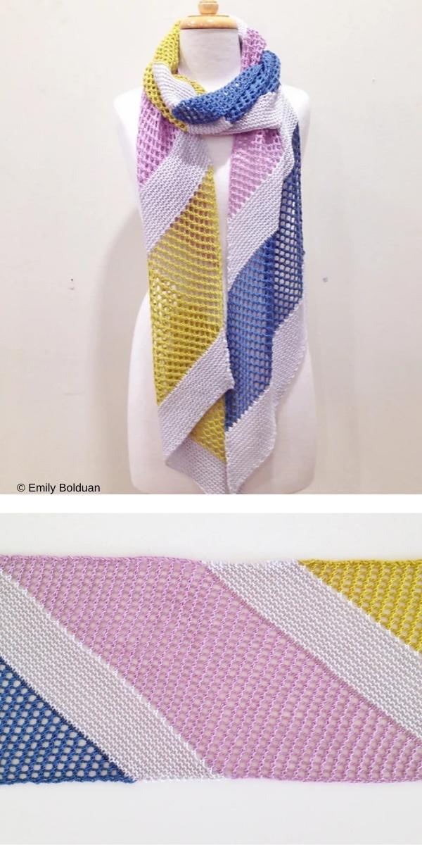free knitting pattern: Fashion Scarf