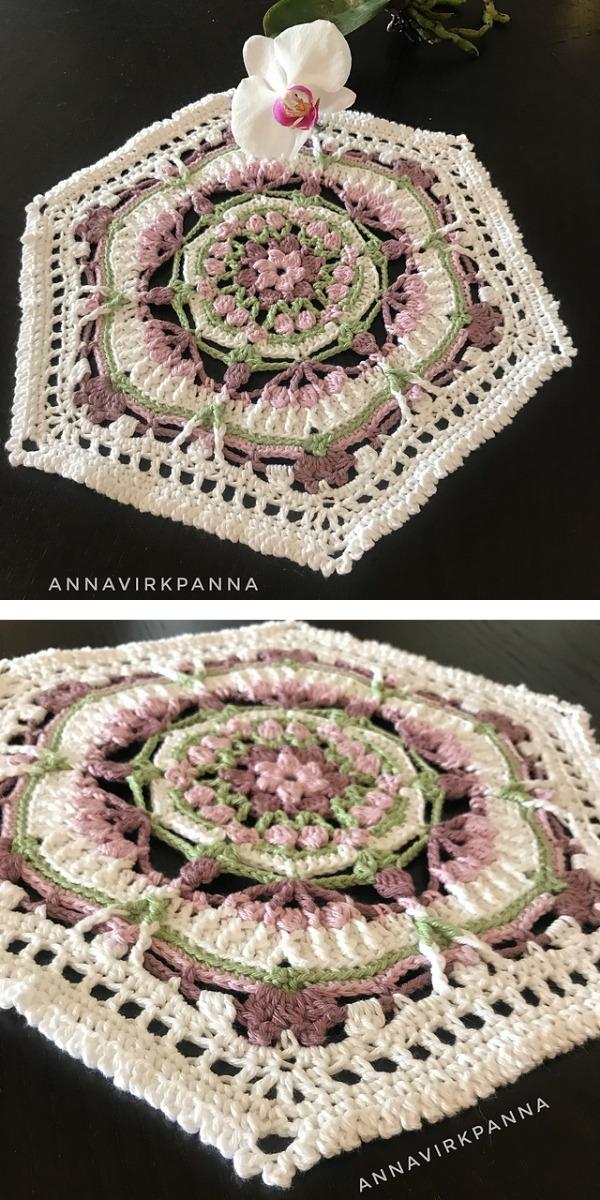free crochet pattern: Floral Mandala