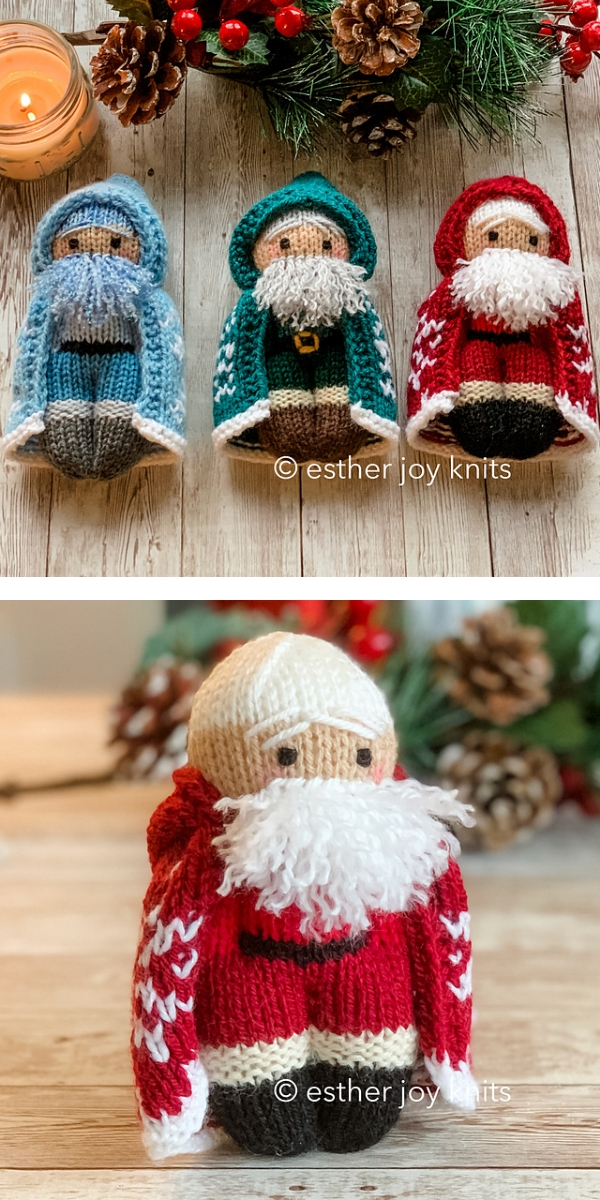 Blue and Red Little Santa Claus Christmas