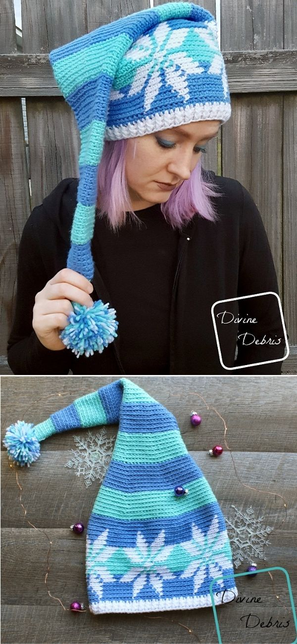 Snowflake Stocking Hat