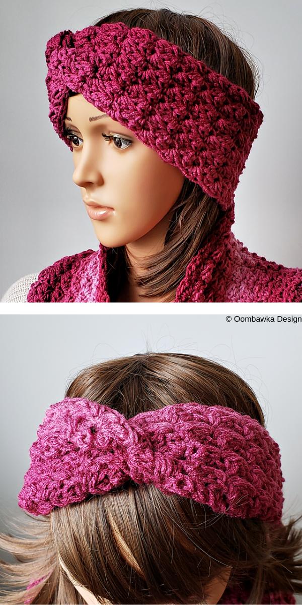 Women in burgundy headband