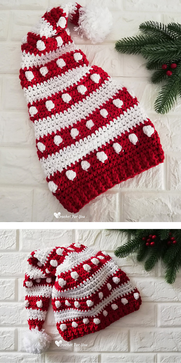 red and white christmas hat