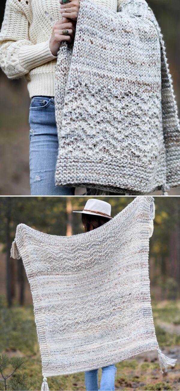 Modern Mountain Throw Blanket