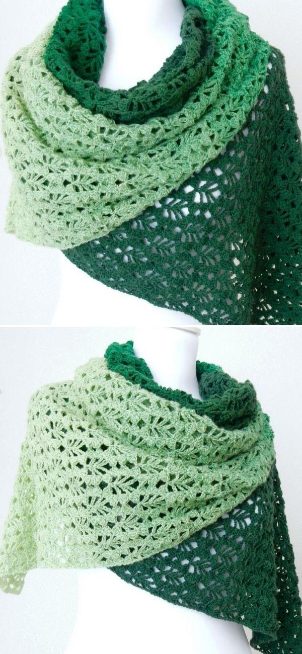 Verdancy Shawl: Free Crochet Pattern