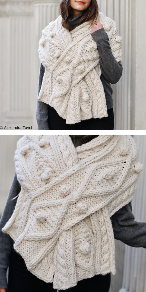 Kensington Cable Wrap free knitting pattern