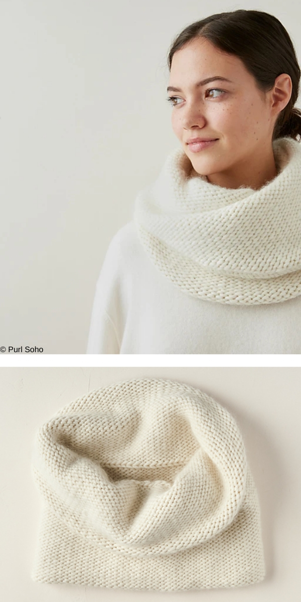 Double Layer Cowl free knitting pattern