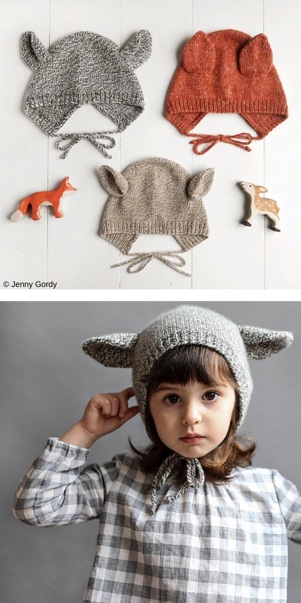 Animal Bonnet free knitting pattern