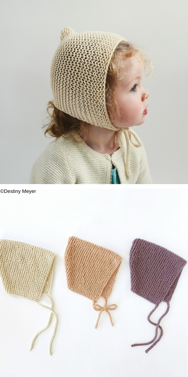 Garter Bonnet free knitting pattern