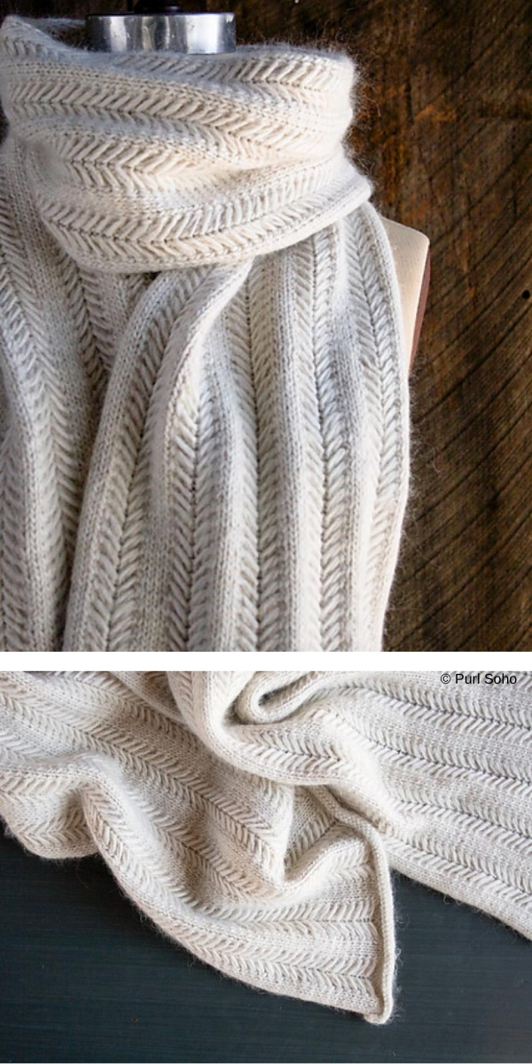 Jasmine Scarf free knitting pattern