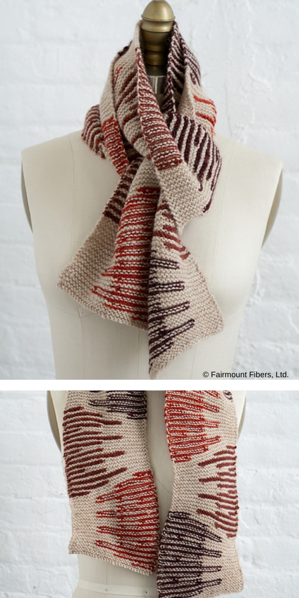 Destello Scarf free knitting pattern